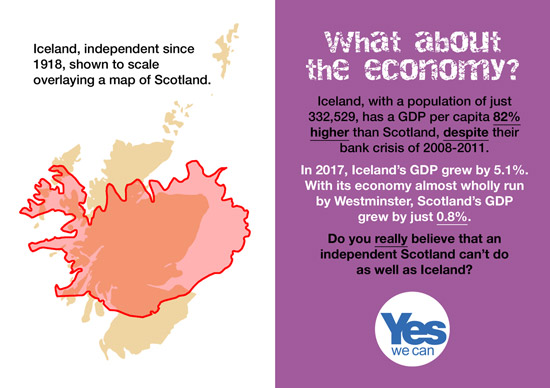 do you really believe than an independent scotland can't run its economy as well as iceland?