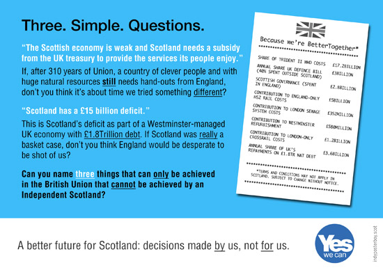 three. simple. questions. for supporters of the union