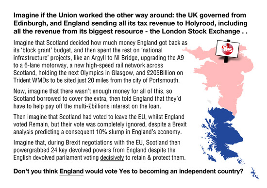 imagine if the uk was governed from edinburgh, and has to send all its revenue to holyrood