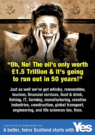 oh, no! the oil's only worth �1.5trillion and will run out in 50 years!