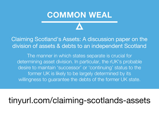 claiming scotland's assets after independence - common weal