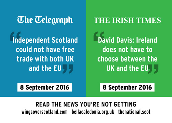 daily telegraph: no free trade for scotland, but no hard border for ireland