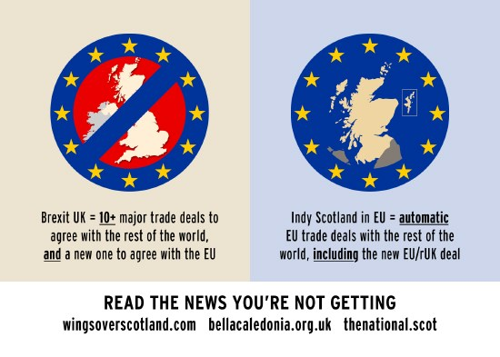 the uk out of eu vs indy scotland in the eu.