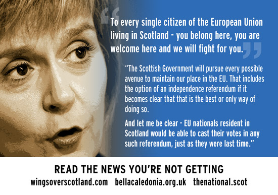 indyref2: eu citiens are welceom, and will get to vote.