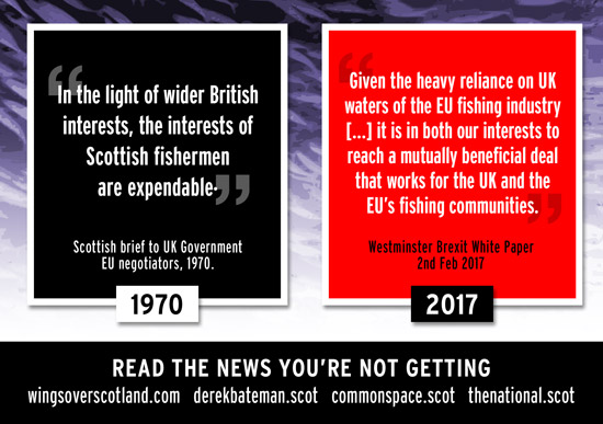 scottish fishing - traded away by westminster in 1970. it's going to happen again.