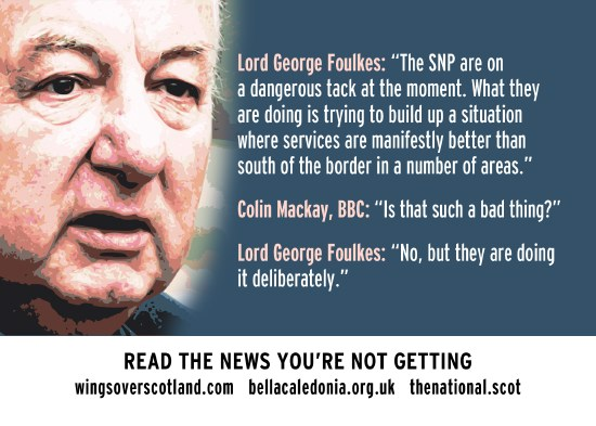 george foulkes - the snp are making things better, and doing it deliberately