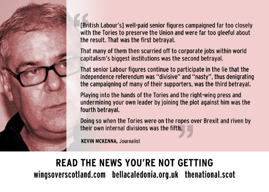 kevin mckenna - scottish labour's five betrayals of scotland