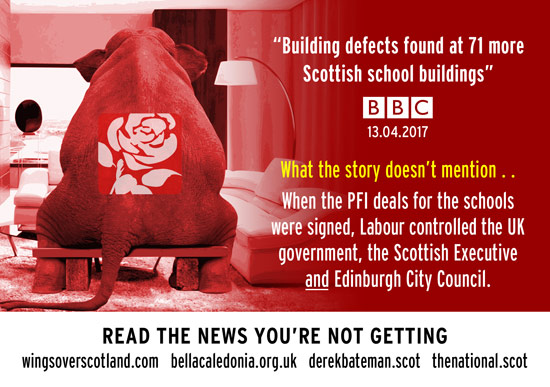 labour controlled uk gov, holyrood and edinburgh city council when school pfi deals signed