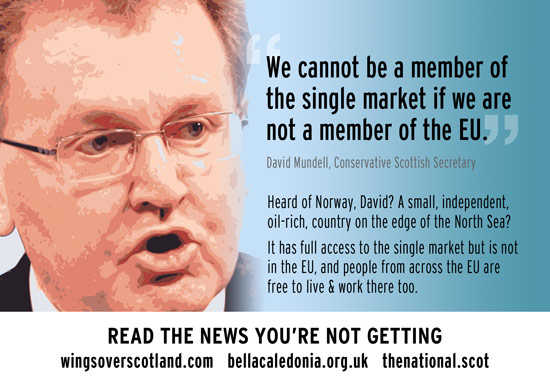 mundell telling porkies: norway has full access to eu single market but isn't a member