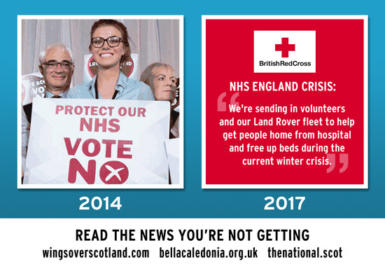 the nhs then and now. your no vote didn't protect your nhs. it did the opposite.