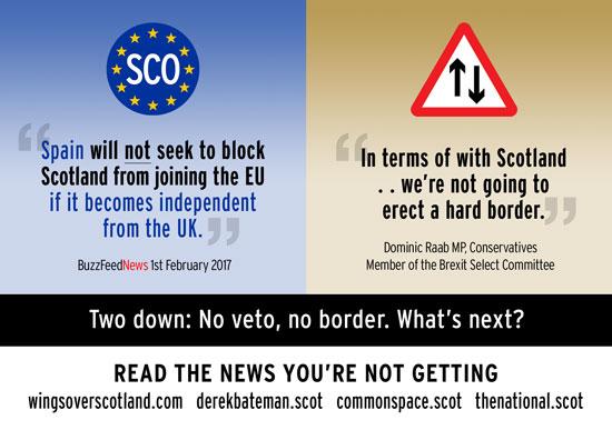 no eu veto from spain. no england/scotland border.