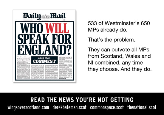 westminster is broken: english mps can outvote scotland, wales and ni's combined