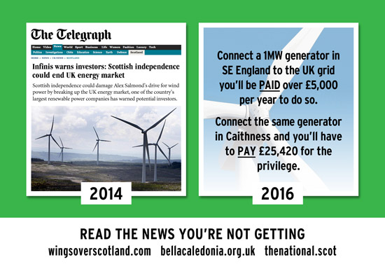 2014: indy threatens uk energy market 2016: scotland pays extras to feed into uk energy grid
