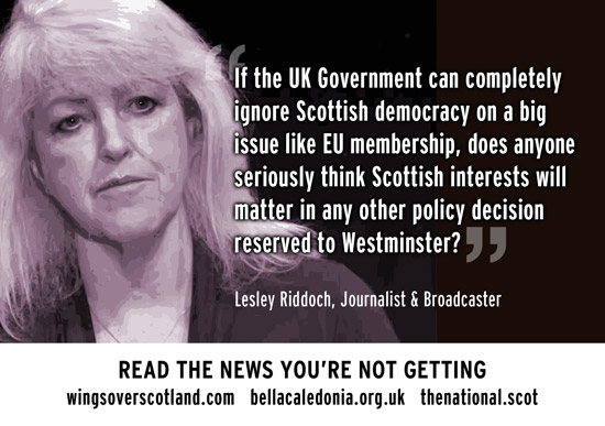 if westminster ignores scottish democracy on eu, what chance on any othe policy