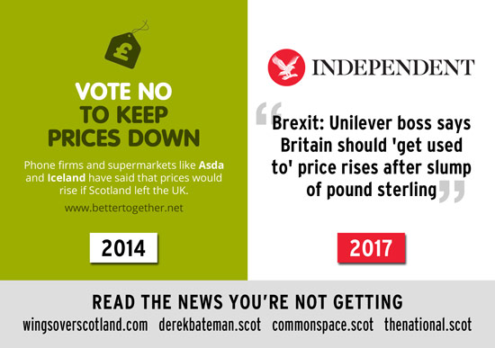 vote no to keep prices down, they said. now prices rise even more because of brexit.