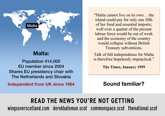 sound familiar? the said the same to malta in 1959