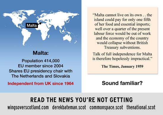 sound familiar? the said the same to malta in 1959