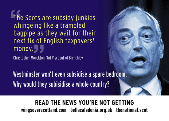 westminster won't subsidise a spare bedroom. why would tbhey subisise a whole country?