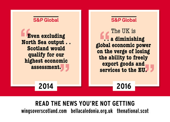 s&p global assessment - indy scotland vs brexit uk