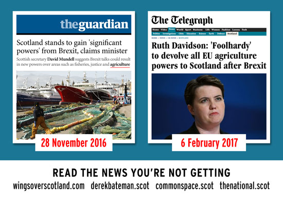 tories reneging on brexit devolved powers - in less than 3 months