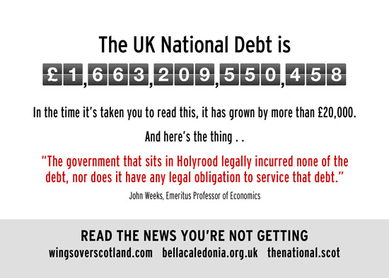 scotland is not legally liable for the uk's 1.6trillion national debt