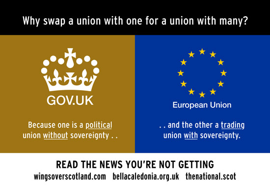 becuae one is a political union without sovereignty, the other a trading union with sovereignty