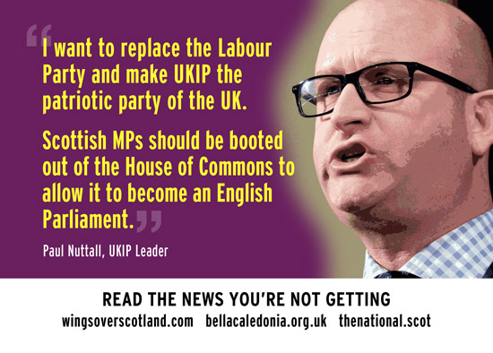 ukip - scottish mps should be kicked out of westminster, so it becomes an english parliament