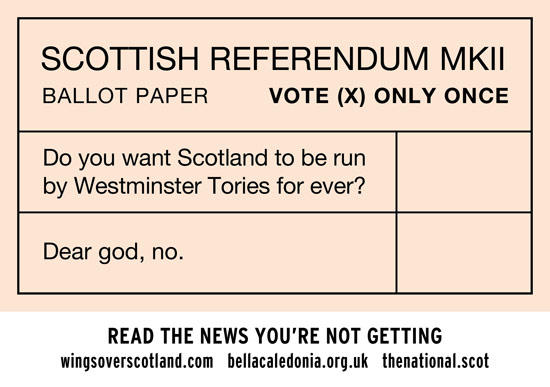 do you want scotland to be run by the tories forever?