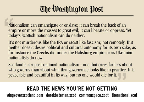 scottish nationalism - the washington post gets what the unionist media pretends doesn't exit
