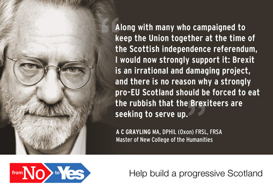 a c grayling. supported the union in 2014, now supports independence
