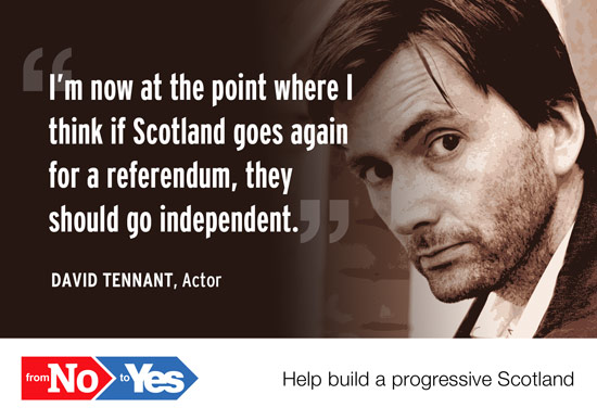 david tennant - if scotland goes again for a referendum, they should go independent