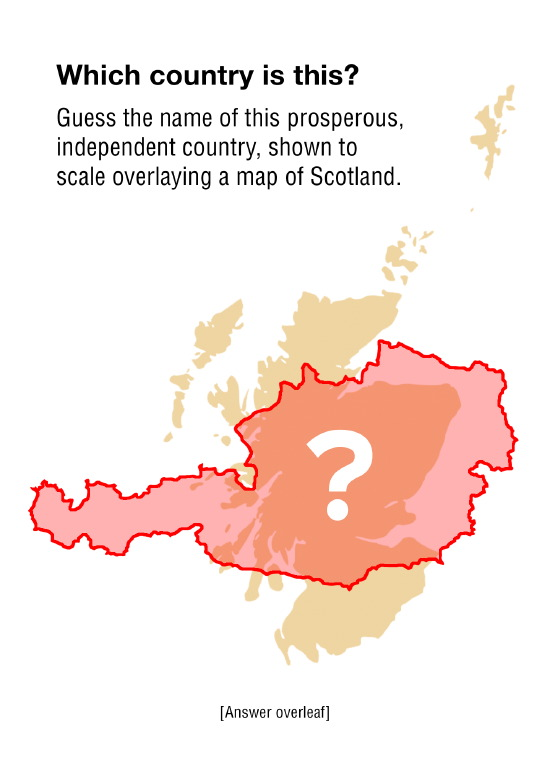 austria - almost same size as scotland, independent since 1955