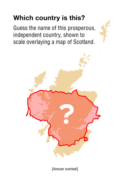 lithuania - 80% the size of scotland, independent since 1990