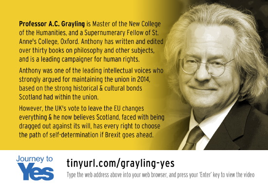 professor grayling, a former bettertogether supporter, explains why he now supports yes