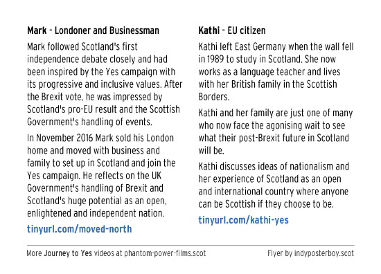 londoner and business mark, and kathi a eu citizen, explain why they now support yes