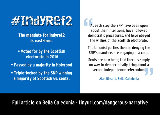 the cast-iron mandate for indyref2, and how the unionist parties are trying to block it