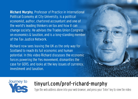 professor richard murphy - gers, and the key issues of currency, investment and taxation
