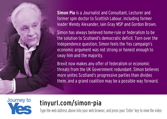 journey to yes - simon pia, former labour spin-doctor