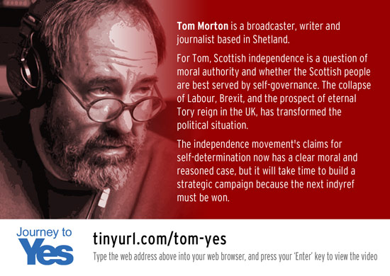 journey to yes - tom morton, broadcaster and writer