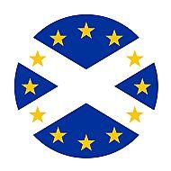 Saltire Roundel with EU stars