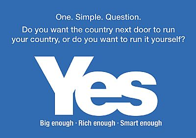 do you want the coiuntry next door to run your country - blue