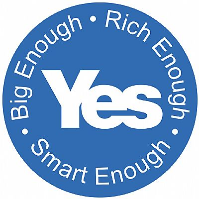big enough - rich enough - smart enough - roundel white on blue