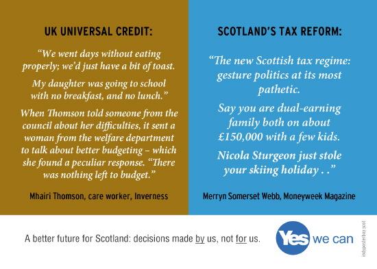 cruel uk universal credit vs fair scottish tax reform