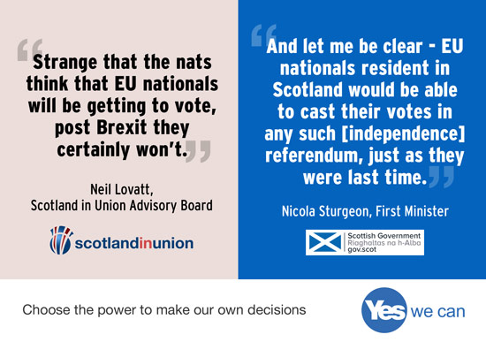 eu citizen? scotland in union doesn't want you to be able to vote.