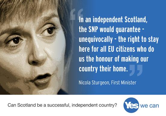 eu citiens are welcome in scotland