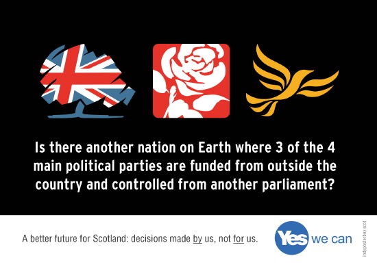 is there another country in world where main 3 of 4 main parties run and funded from another country?