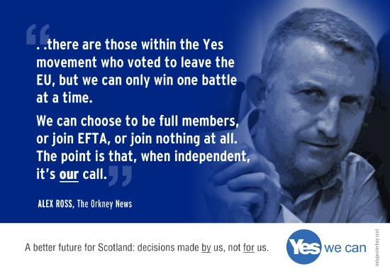 one battle at a time. eu membership, efta, or nothing. after indy it will be our choice.