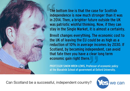 professor wren-lewis - the case for scottish independence is now much stronger than in 2014
