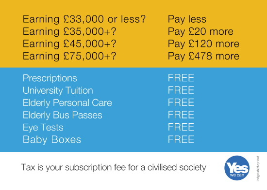 scotland's tax reforms: tax is your subscription fee for a civilised society.