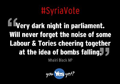 syrianvote bombing - labour and tories cheering together